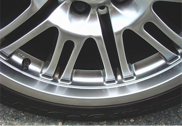 a well-cleaned aluminum wheel