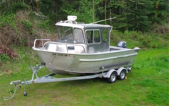 BriteKleen aluminum fishing boat