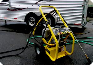 First pressure wash the trailer before using BritePlus MX