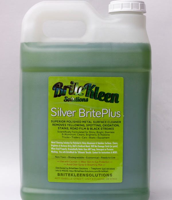Silver BritePlus two and half gallon stainless steel and aluminum cleaner